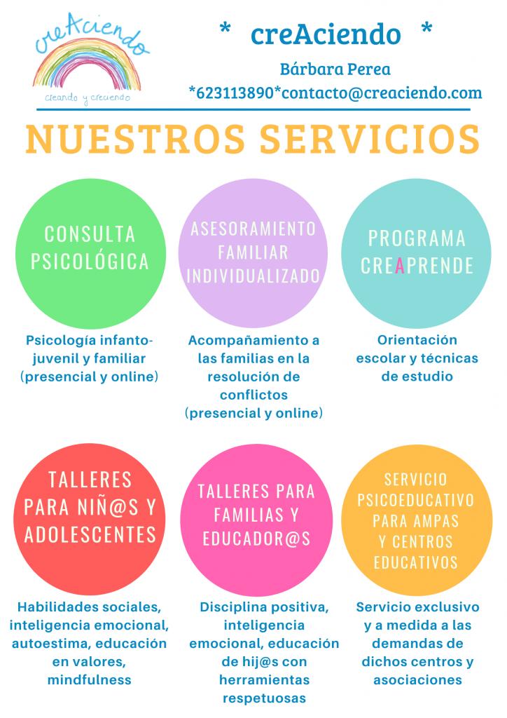servicios creaciendo